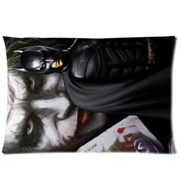 Batman The Joker Custom Rectangle Pillow Cases 20x30 (one side) (Color: White) = 1927903236