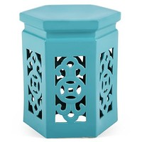 One Kings Lane - Chinoiserie Chic - Aly Garden Stool, Sky Blue