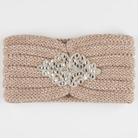Sequin Detail Headwrap Taupe One Size For Women 24518441301