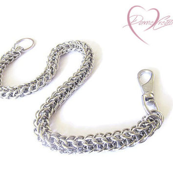 Steel Wallet Chain - Chainmail Wallet Chain - Mens Wallet Chain - Long Wallet Chain - Biker Chain - Men's Accessories - Chainmaille Wallet