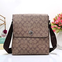 Boys & Men Coach Men Leather Office Bag Satchel Shoulder Bag Crossbody