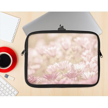 The Distant Pink Flowerland Ink-Fuzed NeoPrene MacBook Laptop Sleeve