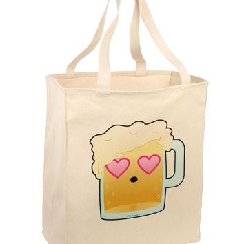 Cute Infatuated Beer Large Grocery Tote Bag by TooLoud