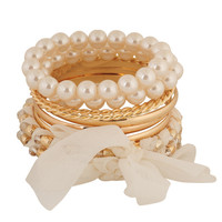 Chiffon Wrapped Bangle Set | FOREVER21 - 1000044125
