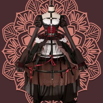 [Stock]2017 NEW GAME SINoALICE Figure Holy Monk Little Red Ridinghood Uniform Halloween Cosplay Costume Gothic Lolita Dress