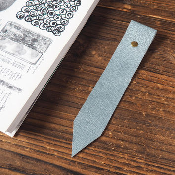 Leather Bookmarks #Blue Grey