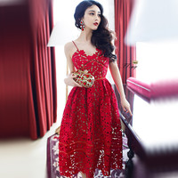 2016 Fashion Spring Summer Sexy Women Maxi Dress Red And White Lace Party Vintage Dress Party Dresses Sundress Plus Size