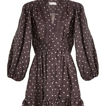 Prima polka-dot linen dress | Zimmermann | MATCHESFASHION.COM UK