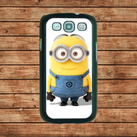 Samsung Galaxy S3 case--Despicable Me Minion Mustache,in plastic hard case,black or white or clear color