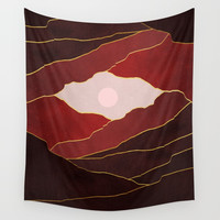 Surreal sunset 05 Wall Tapestry by marcogonzalez