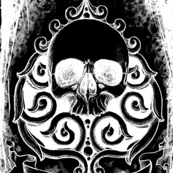 Ace of Spades Ad Mortem stretched canvas