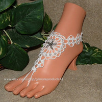 Lace Wedding Shoes, Open Toe Lace Shoes, Ivory Wedding Lace Flats, Barefoot Sandals, Comfortable Flat Lace Wedding Shoes