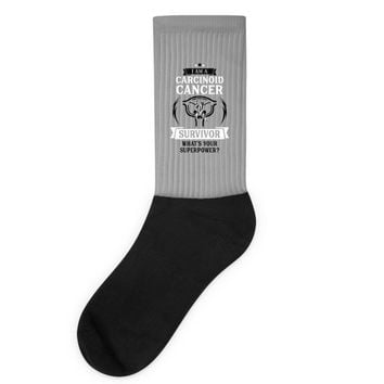 I am a Carcinoid Cancer Survivor - What's Your Superpower? Socks