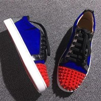 Cl Christian Louboutin Low Style #2060 Sneakers Fashion Shoes