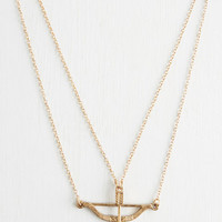 Boho Signed, Sealed, and Quivered Necklace in Gold by ModCloth