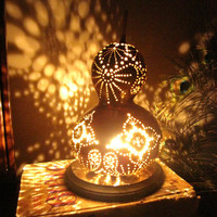 Sunshine and Paisley gourd lamp