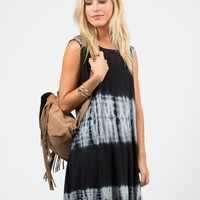 Sleeveless Jersey Tie-Dye Dress