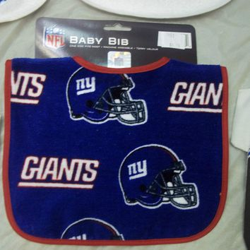 ASSORTED TEAM BABY BIBS GIANTS, STEELERS, EAGLES, KNICKS, COWBOYS AND MORE!!