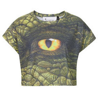 Dino Eye Crop By Tee And Cake X The Natural History Museum - New In