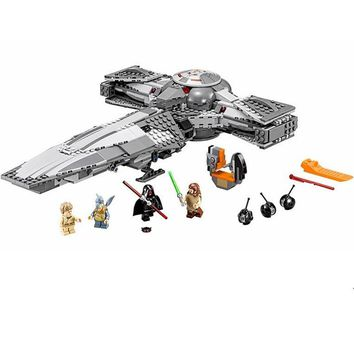 Star Wars Force Episode 1 2 3 4 5 Mailackers Compatible With Legoing  Plan 75096 Sith Infiltrator 698Pcs  The Last Jedi Building Blocks Toys Legoing AT_72_6