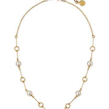 Pearl Station Gold Vermeil Necklace - Majorica