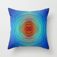 Center Point - Abstract Art By Sharon Cummings Throw Pillow by Sharon Cummings