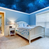 Ceiling STICKER MURAL space blue stars galaxy night decole 130