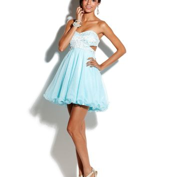 Roberta Juniors Dress, Strapless Empire-Waist Tulle