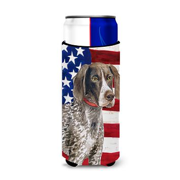 German Shorthaired Pointer Patriotic Michelob Ultra Hugger for slim cans BB9641MUK
