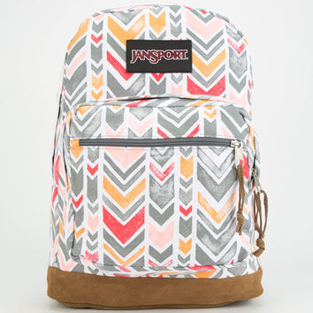 Jansport Right Pack Expressions Backpack Coral Dusk Chevrons One Size For Women 24759295701