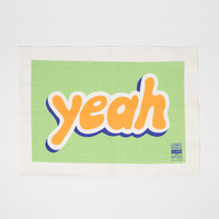 'Yeah' tea towel by Jon Campbell for Third Drawer Down - Douglas + Bec