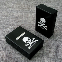 1 Piece New Arrival  Smoking Gift Skull Japanese Fashionable Brand MMJ Mastermind  Aluminium Alloy Pack Of Cigarettes Case
