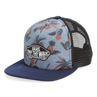 Boy's Vans 'Classic Patch' Snapback Trucker Hat - Blue