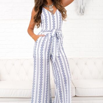 Finney Printed Jumpsuit (Ivory)