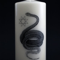 Snake - Creation Symbol - Salem Line - Pillar Candle