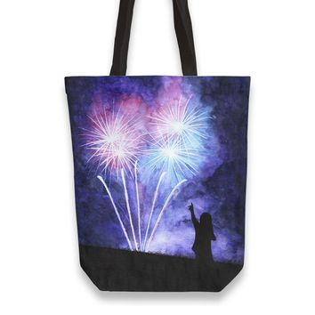 Blue and pink fireworks Totebag by Savousepate from €25.00 | miPic