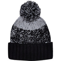 River Island MensBlack color block beanie hat