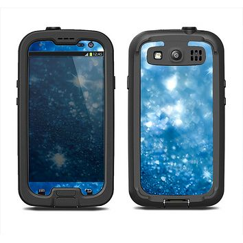 The Unfocused Blue Sparkle Samsung Galaxy S4 LifeProof Fre Case Skin Set