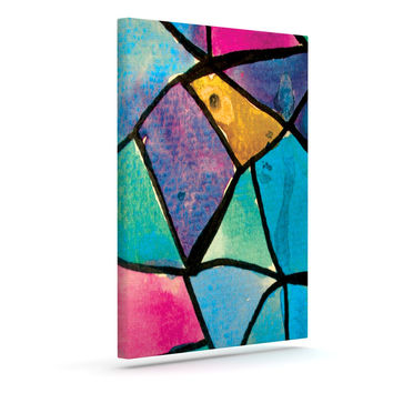 "Theresa Giolzetti ""Stain Glass 2"" Outdoor Canvas Wall Art"