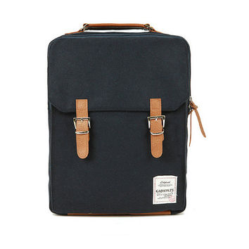 Cotton Square Backpack (Black)