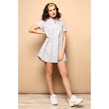 BB Dakota Stripe A Personality Shirt Dress
