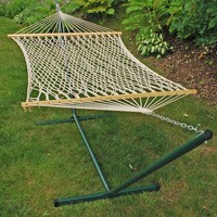 Cotton Rope Hammock and Stand Combination by Algoma