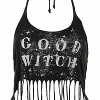 Good Witch Halterneck Top by Blackmoon - Black