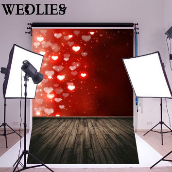 5x7FT Heart Photography Background Photo Studio Backdrop Prop Valentine's Day Wedding Party Events Ornament Gadgets Craftwork