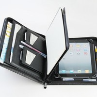 iPad 2 Portfolio Case with Notepad cow hide Leather iPad Business Case