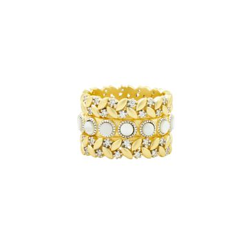 Fleur Bloom EMPIRE Mother of Pearl 3-Stack Ring