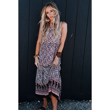 Dance With Me Printed Maxi Dress - Multi