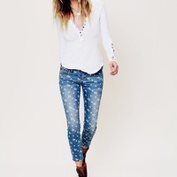 Free People Ditsy Floral Ankle Crop