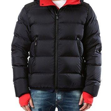 Wiberlux Moncler Hintertux Men's Hooded Contrast Color Lining Down Jacket