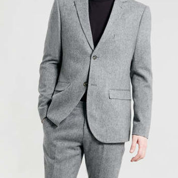 Grey Tweed Heritage Suit - Skinny Fit Suits - Men's Suits - Suits- TOPMAN